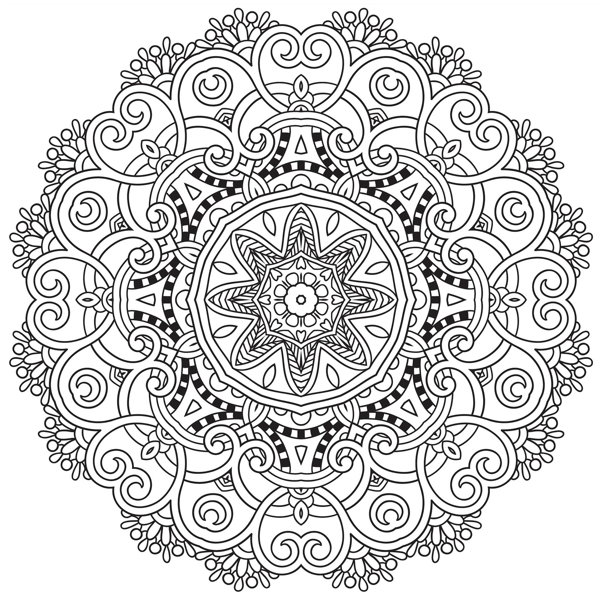 Hard mandala coloring pages for adults - Mandala To Download Spring Free To Print
