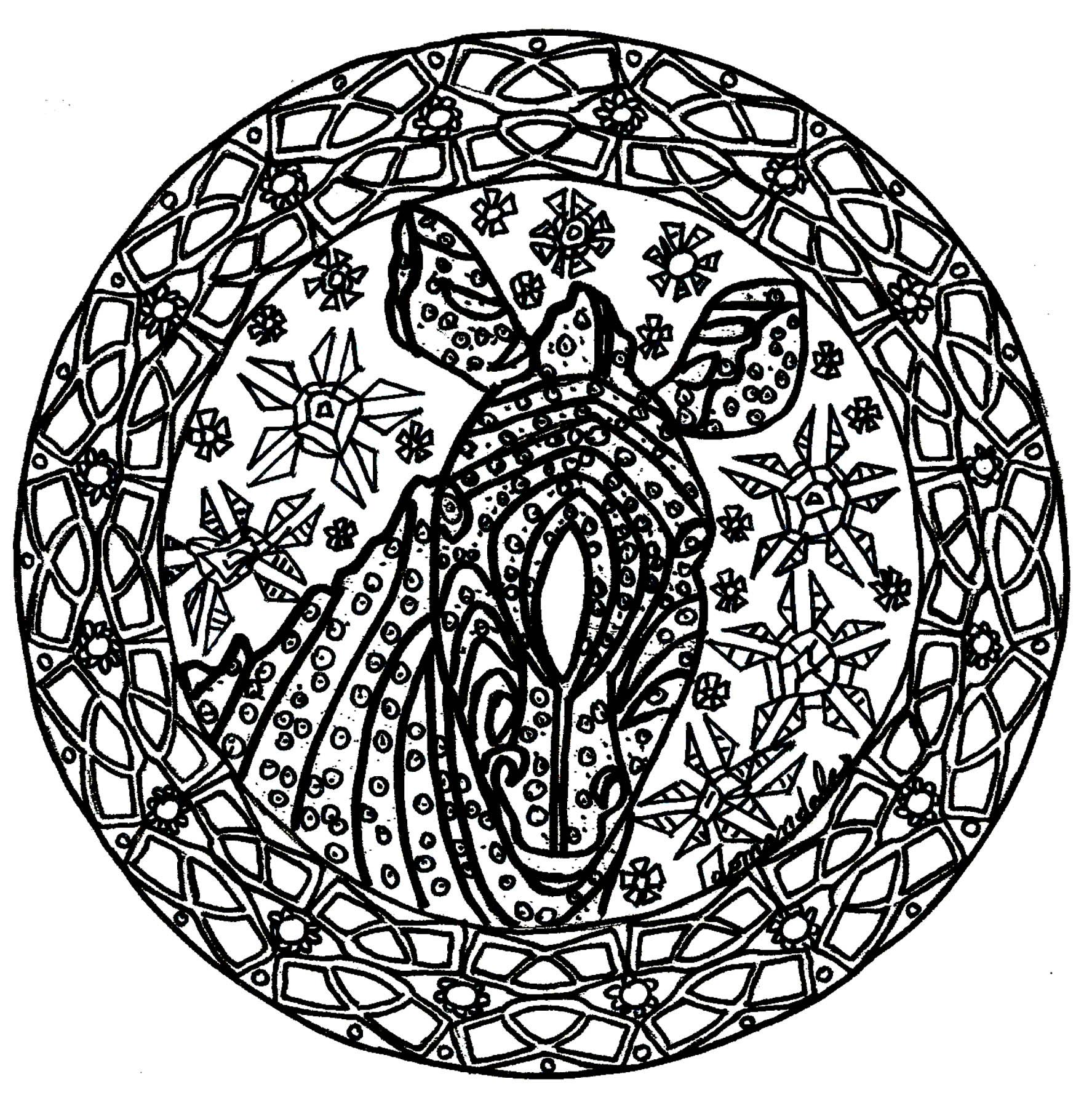 Difficult Mandalas (for adults) - 100% Mandalas Zen & Anti-stress