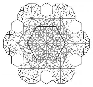Hexagone Anti stress Mandala