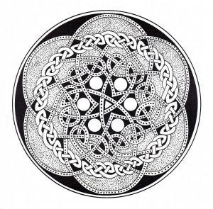 """Celtic Art"" Mandala coloring page   2"