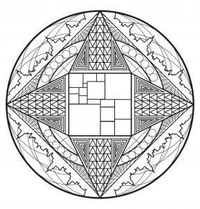 """Celtic Art"" Mandala coloring page   5"