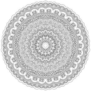 Difficult Zen & Anti stress Mandala   10