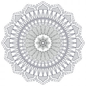 Difficult Mandalas (for adults) - 100% Mandalas Zen & Anti-stress