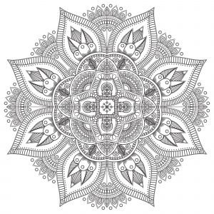 Difficult Zen & Anti stress Mandala   8