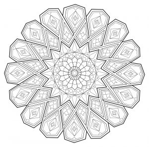 Relaxing Mandala with beautiful patterns