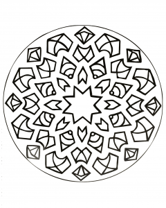 Mandala with star in the middle