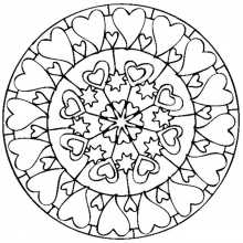 Mandala to color valentines day love