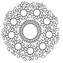 mandala-to-download-circles-and-funny-forms free to print