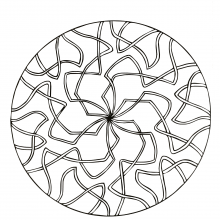 Mandala to download spider web