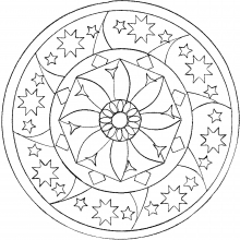 Very easy mandala for child by domandala 12