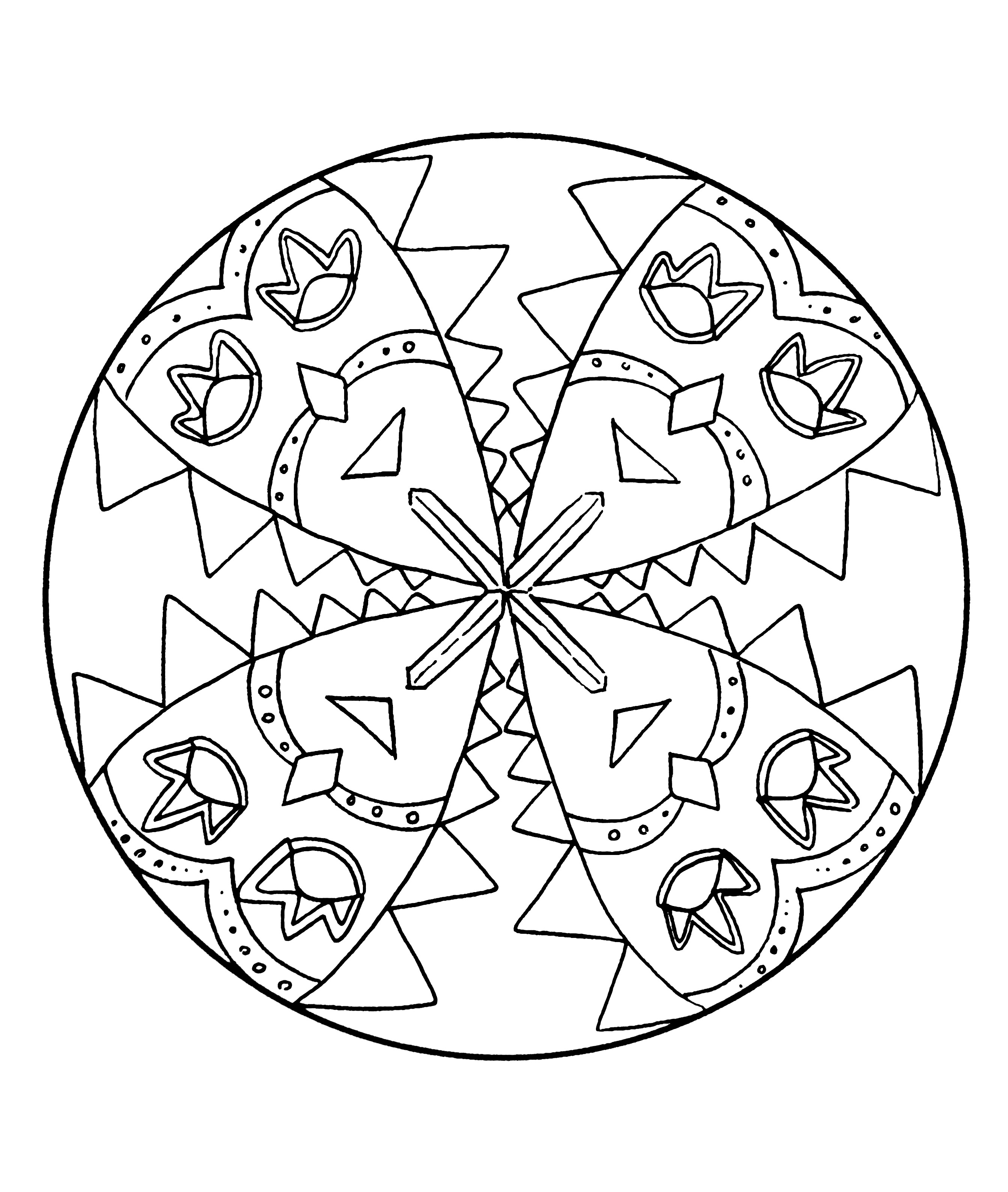 Coloring page with masks