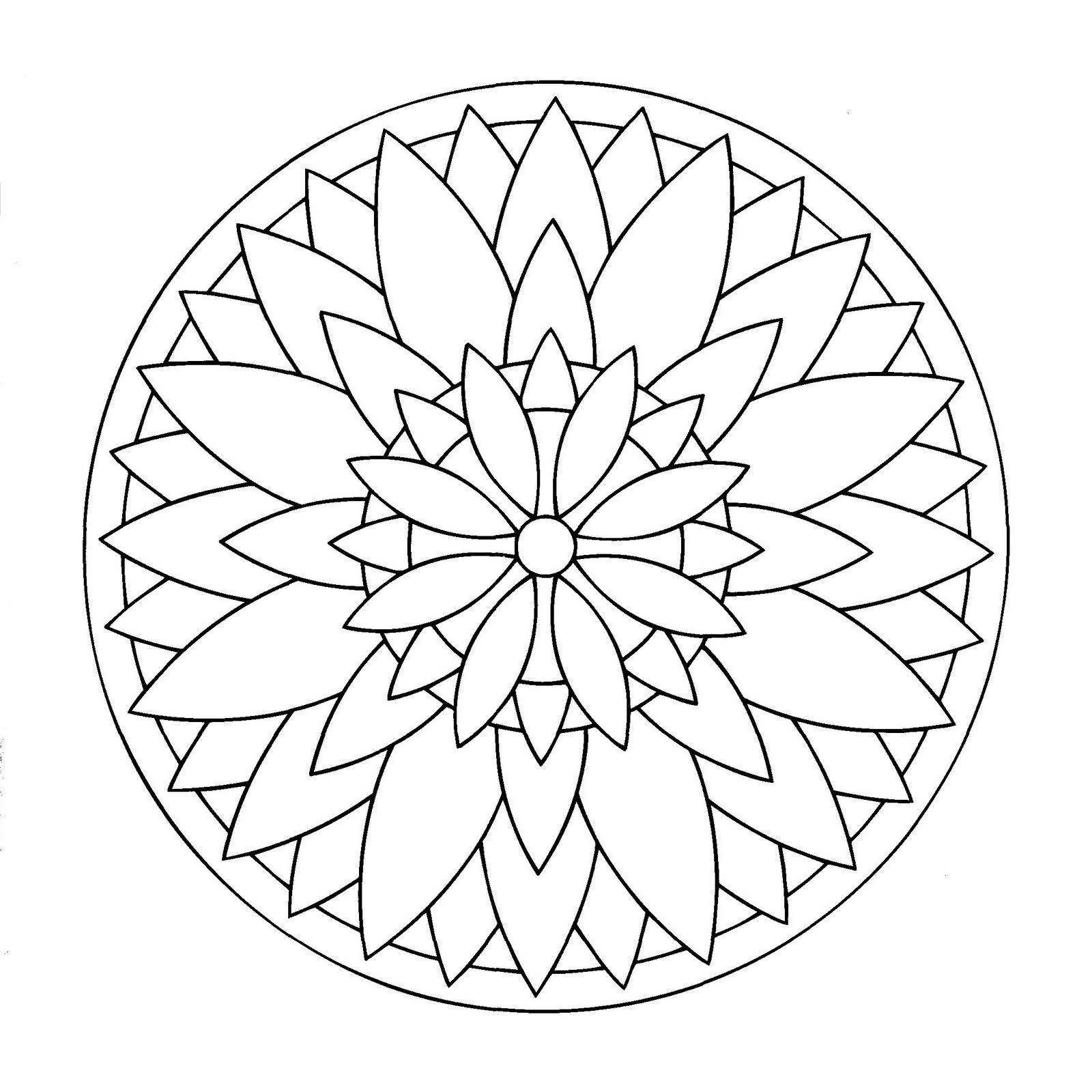 Mandala to color easy children 17 - Easy Mandalas for kids - 100 ...