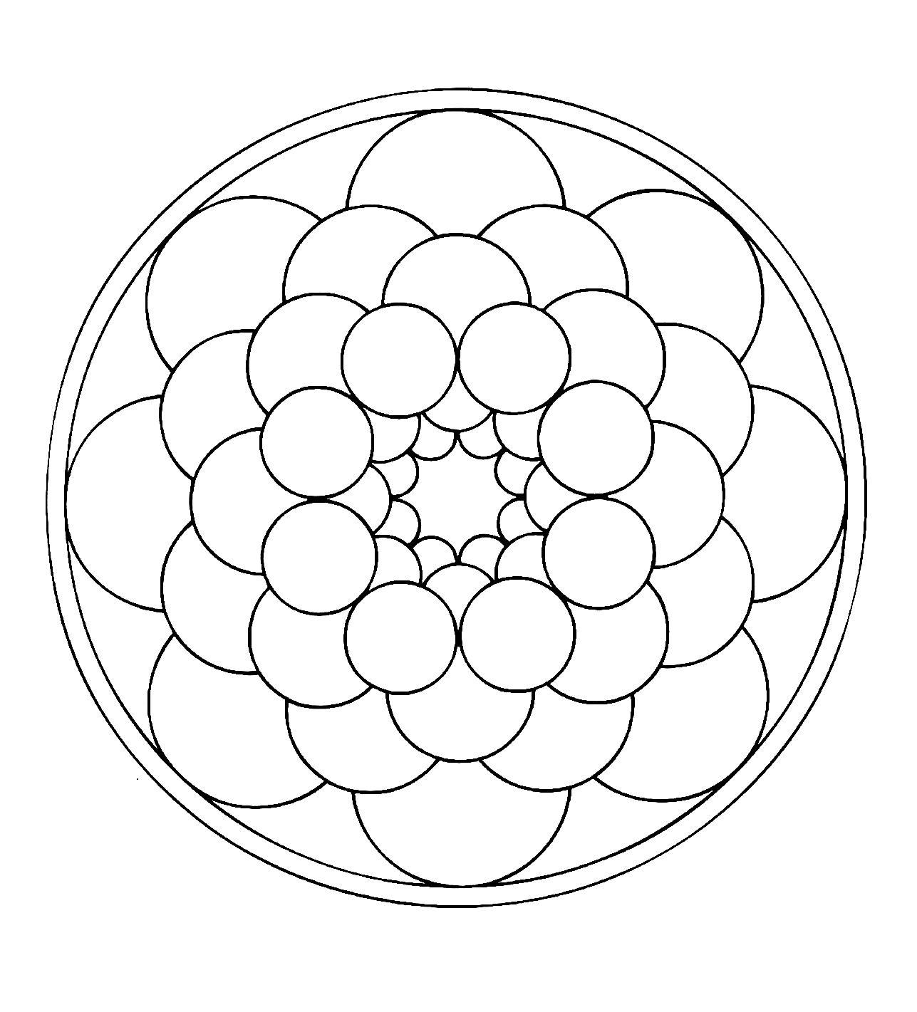 Mandala to color easy children 19 - Easy Mandalas for kids - 100 ...