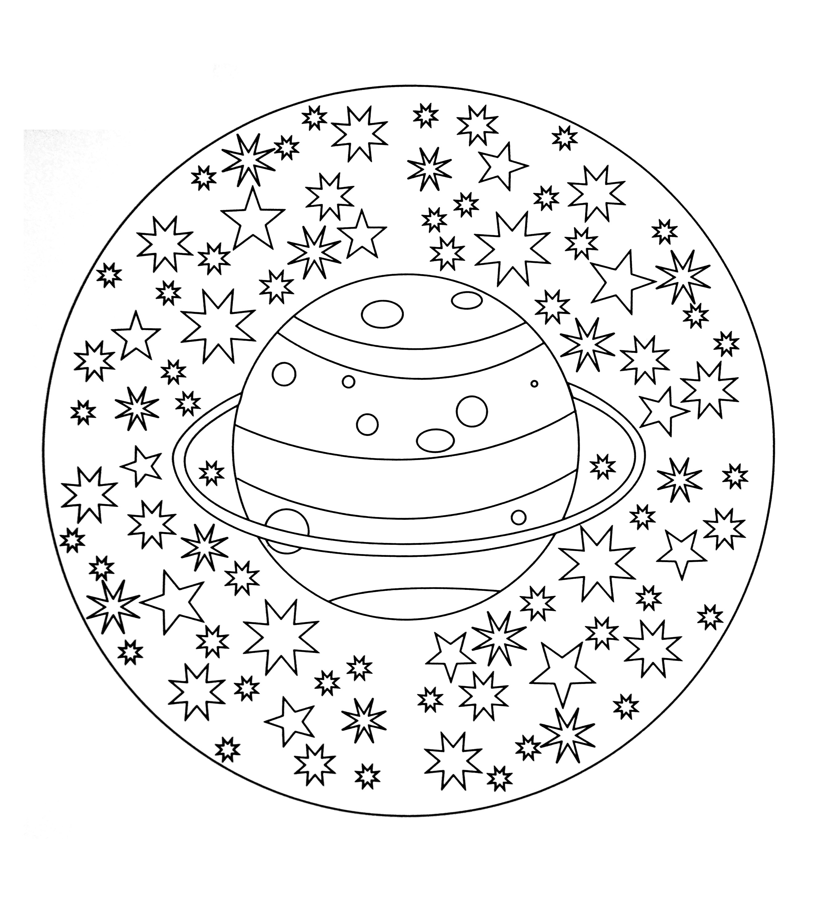Easy Stress Free Mandala Coloring Pages. Easy. Best Free Coloring Pages