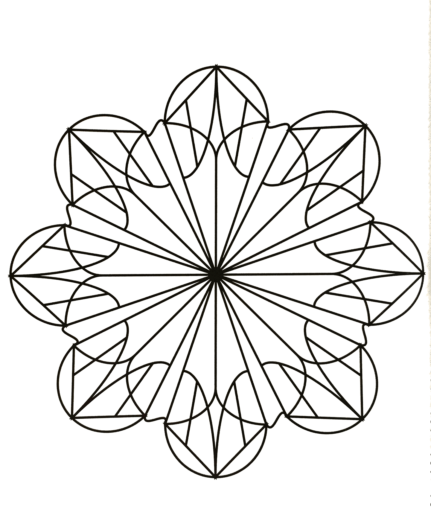 Just few details in this easy Mandala, which will suit kids and adults looking for not too complicated coloring pages. Completing a coloring sheet gives your kids a sense of accomplishment, which builds their self esteem and confidence.
