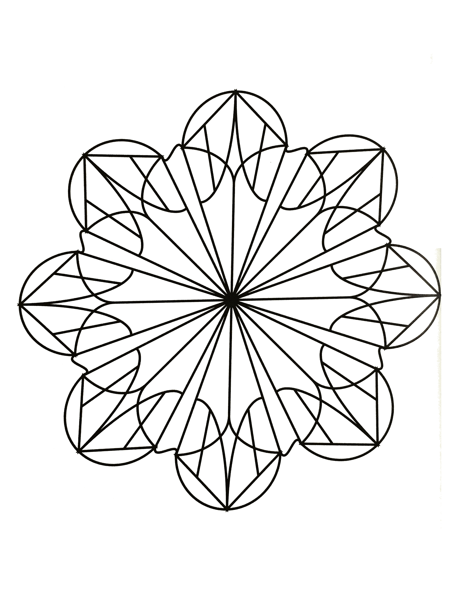 A Mandala coloring page easy to color, perfect for the children, with large areas to color. Do whatever it takes to get rid of any distractions that may interfere with your coloring.