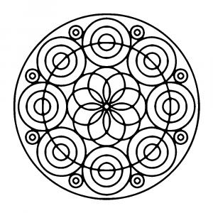 Circles forming a flower   Cool Mandala