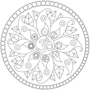 Simple Mandala with symbols