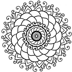 Easy Mandalas For Kids 100 Mandalas Zen Anti Stress