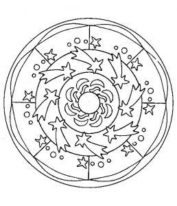 """shooting Stars"" Mandala"