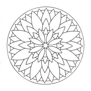 Cool easy Mandala with petals
