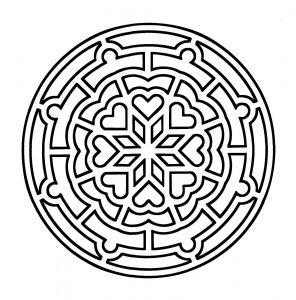 Simple & vintage Mandala