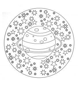 """""""Solar system"""" Mandala"""