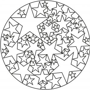 Happy Mandala with stars