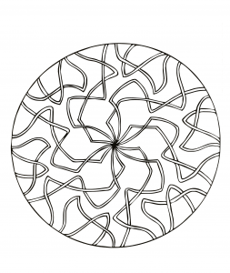 Mandala with ribbons
