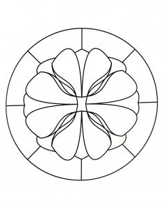Simple Mandala with few details