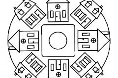 Little houses Mandala