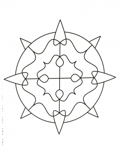 Simple Mandala with some thorns