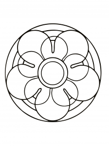 Simple flower in a Mandala