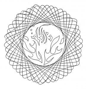 Very simple Mandala for children
