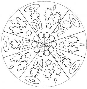 Cool Mandala for kids (hand drawn)