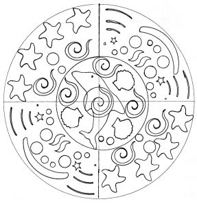Simple Mandala for children with mouse (hand drawn)