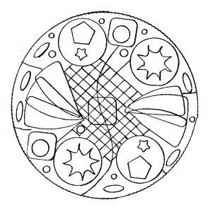 Hand drawn Mandala with geometric patterns
