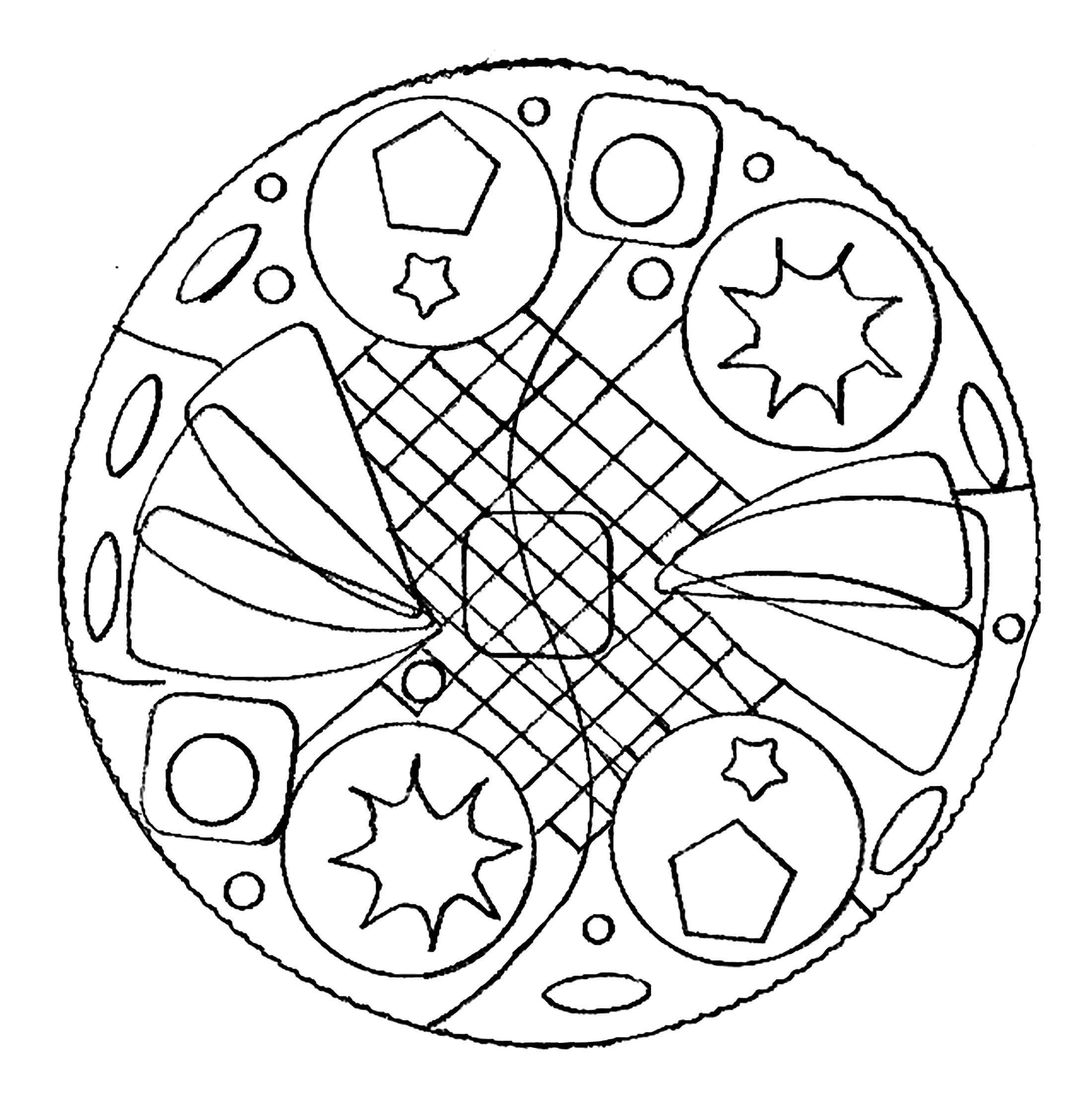 Sacred Geometry Coloring Pages - Adult Geometric Coloring Book ... | 2248x2200