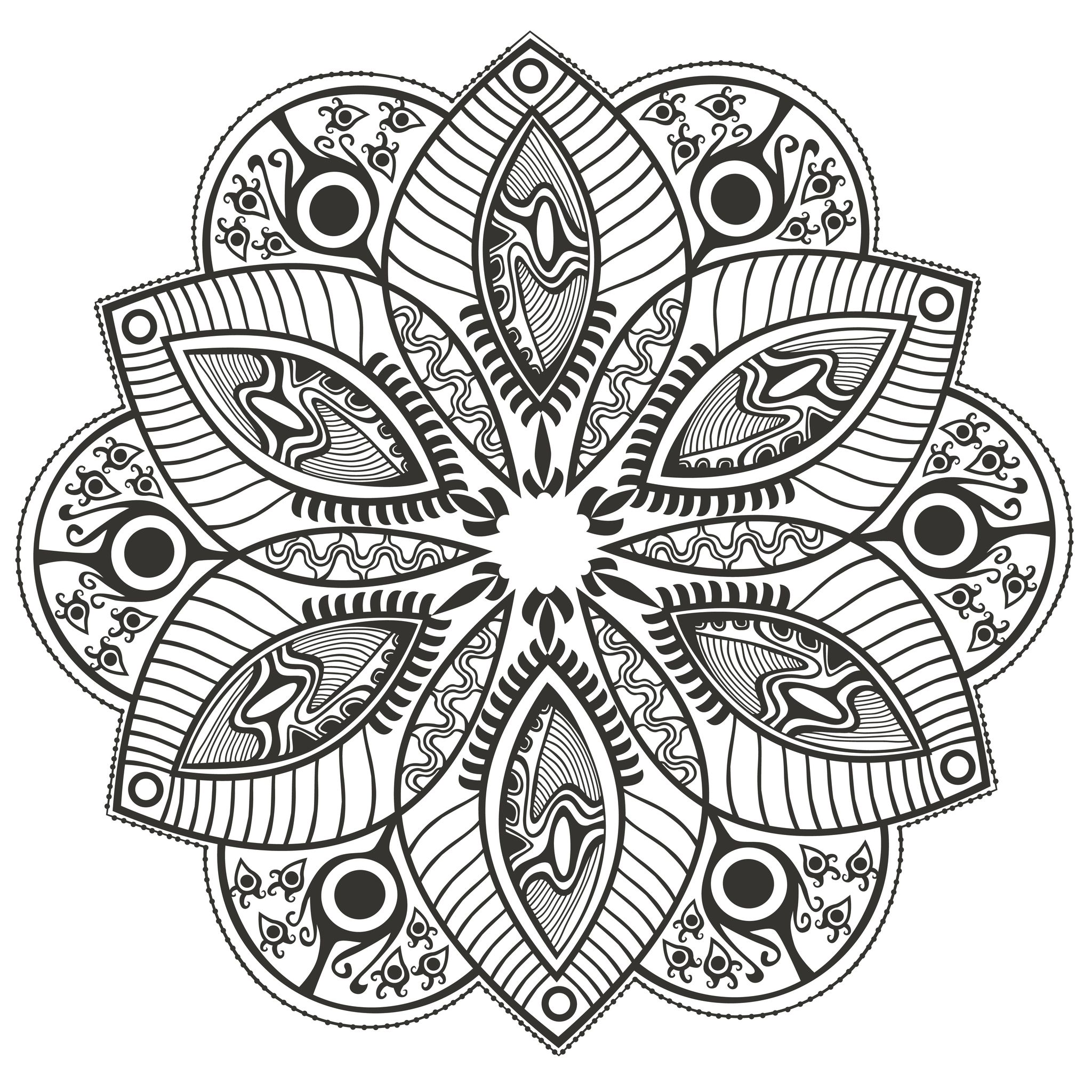 Flower Mandala To Color