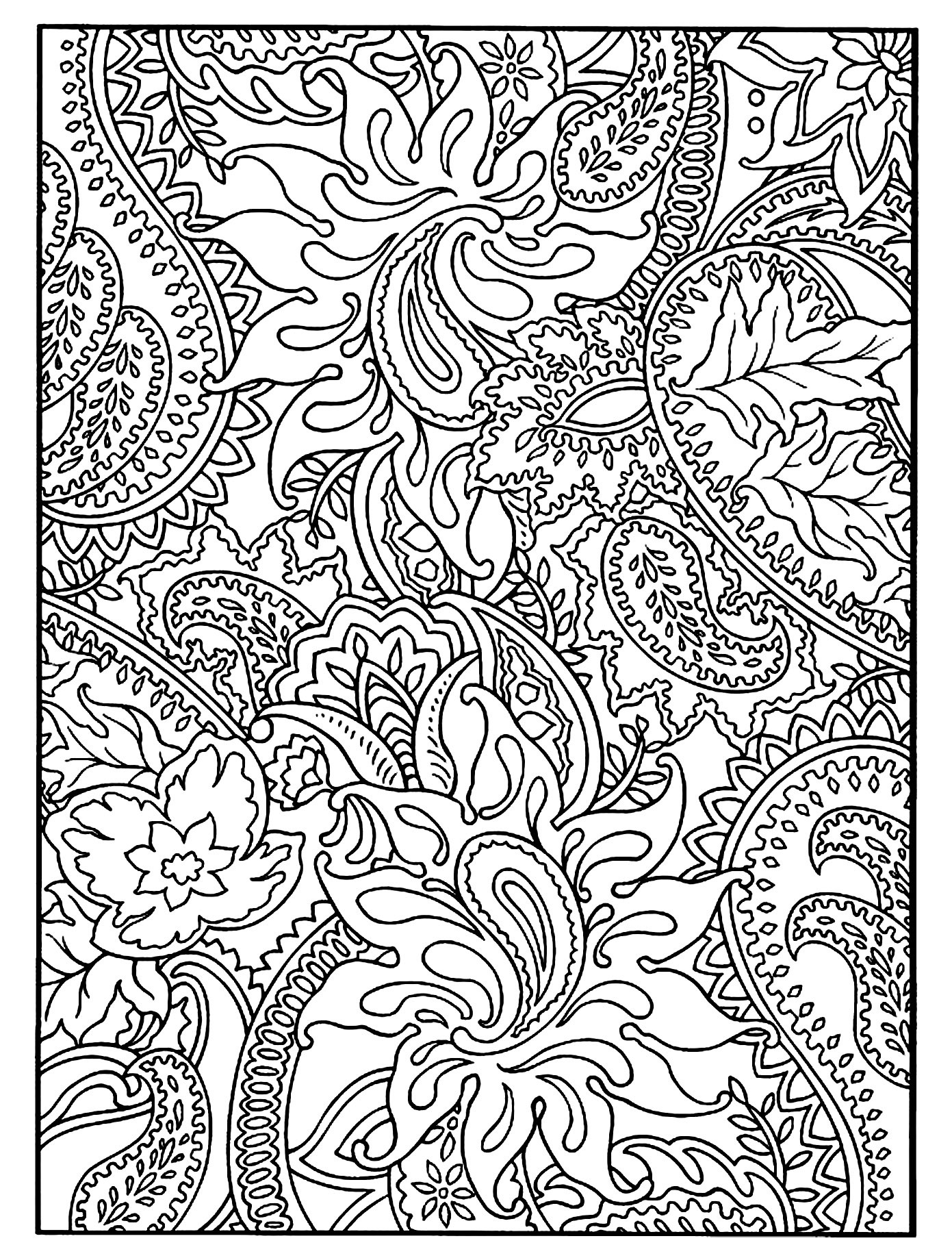 Flowers And Vegetation Full Page Flowers Vegetation Coloring