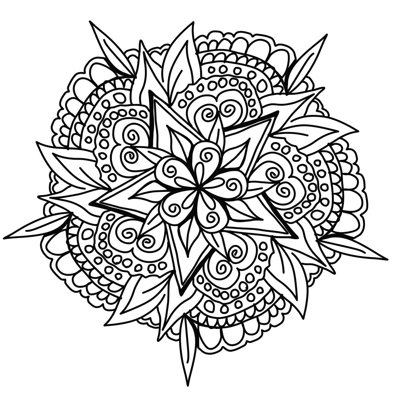 Cool Hand Drawn Mandala Mandalas With Flowers Vegetation 100