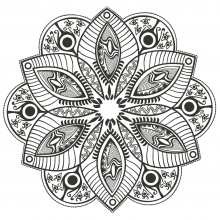 Flower Mandala to color by markovka