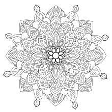 Coloring mandala zen antistress 3