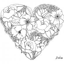 mandala elanise art flowers in a heart