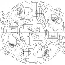mandala-roses-and-art-deco-par-Allan free to print