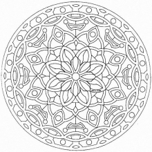 mandala to color flowers vegetation to print 20 - Flowers To Print And Color
