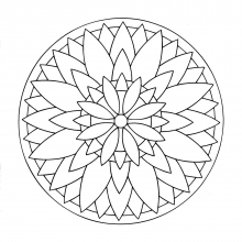 mandala to color flowers vegetation to print 8 - Flowers To Print And Color