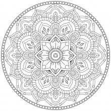 Mandala to download abstract flowers