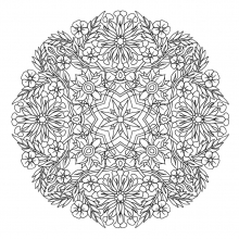 mandala-to-download-magical-flowers free to print