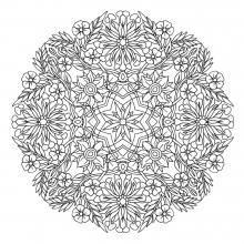 mandala to download magical flowers